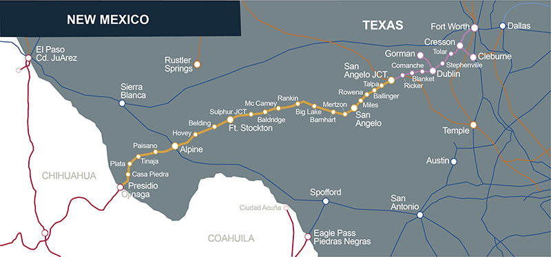 Detail Map Of Texas.Texas Pacifico Transportation Ltd